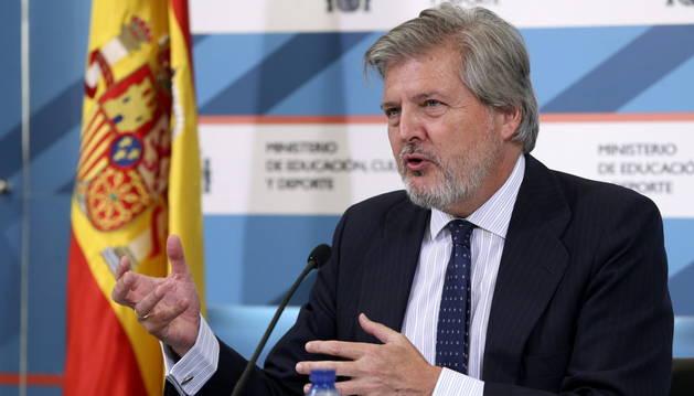 El ministro de Educación, Iñigo Méndez de Vigo.