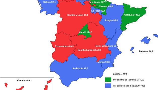 Navarra es la segunda comunidad con mayor coste de la vida