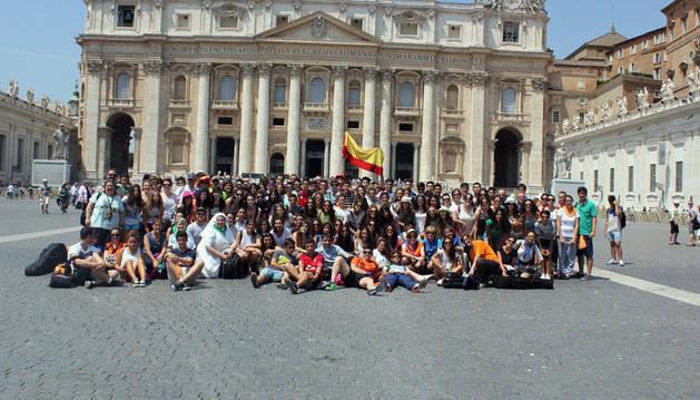 Los participantes en la visita a Roma.