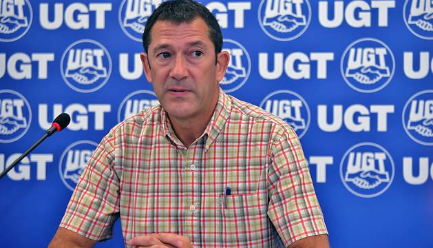 El secretario general de UGT en Navarra, Javier Lecumberri.