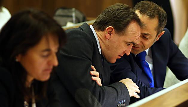 Los regionalistas Javier Esparza y Juan Luis Sánchez de Muniáin.