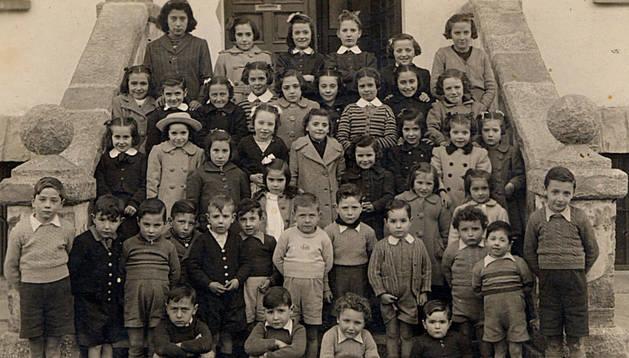 Alumnos del centro, en el pasado.