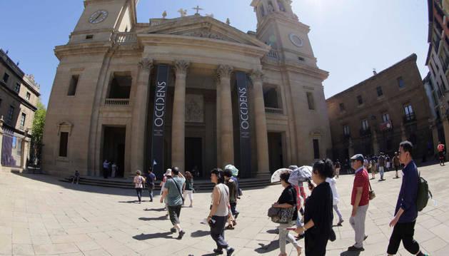 La catedral de Pamplona, en una imagen tomada hace una semana.