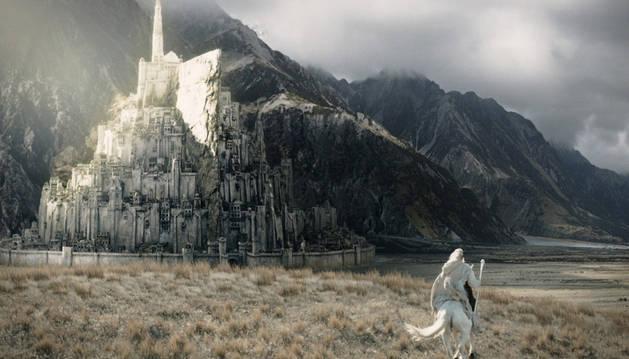 La ciudad Minas Tirith de 'El señor de los anillos'.