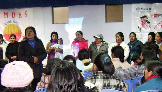 Mujeres beneficiarias de los proyectos de cooperación internacional impulsados por Nuevo Futuro.