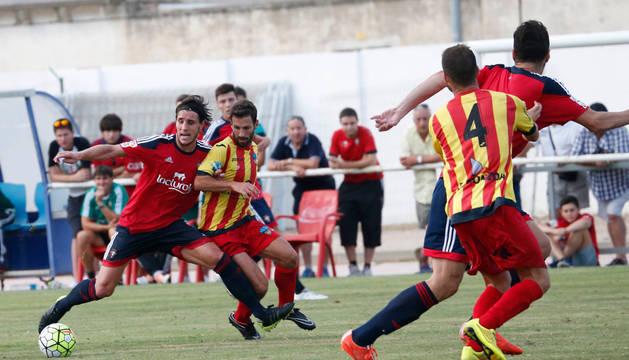 Adrián Cruz, contra el Lleida.