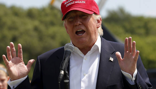 El candidato republicano a la Presidencia estadounidense Donald Trump.