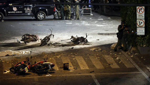 Al menos 12 muertos por la explosión de una bomba en Bangkok