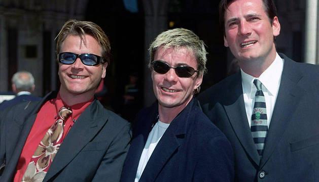 Steve Norman, John Keeble y Tony Hadley, de Spandau Ballet, en una imagen de 1999.