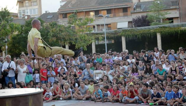 Instante de una de las actuaciones del ciclo 'Más Difícil Todavía' celebradas en Tudela el pasado año.