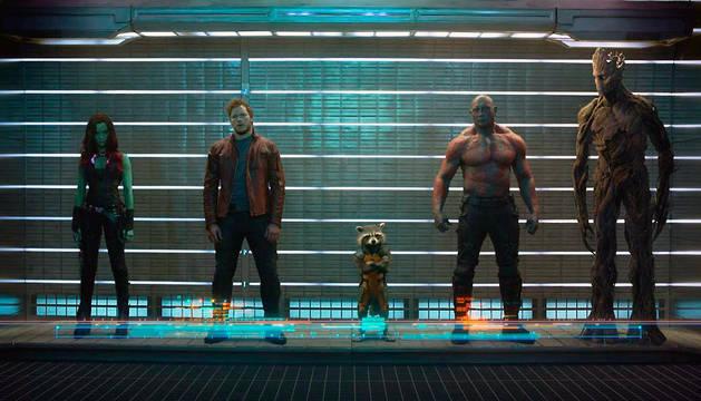 Una escena de la película de Marvel 'Guardianes de la galaxia'.