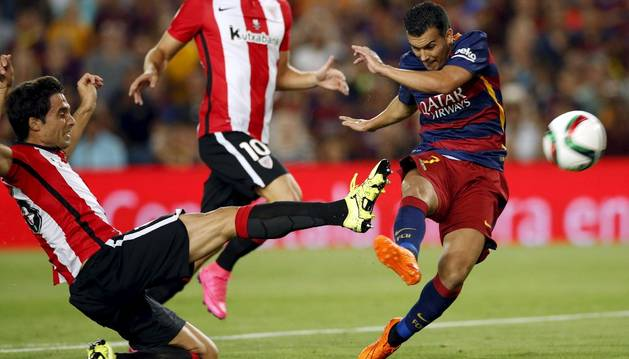 Pedro, contra el Athletic.