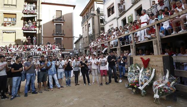 Homenaje realizado al recortador muerto en Lerín.