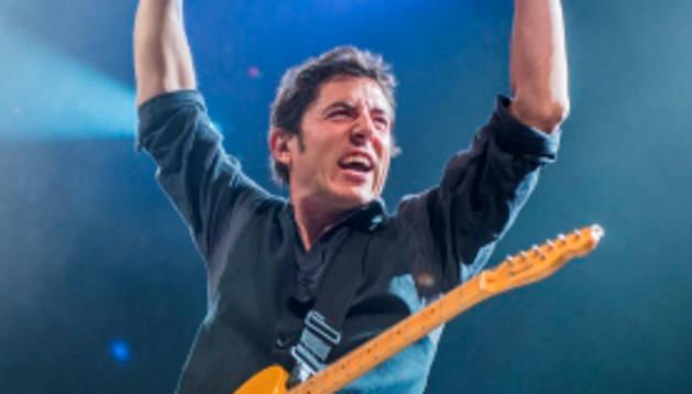 Manel Fuentes, durante un concierto.
