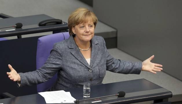 Merkel, en el debate