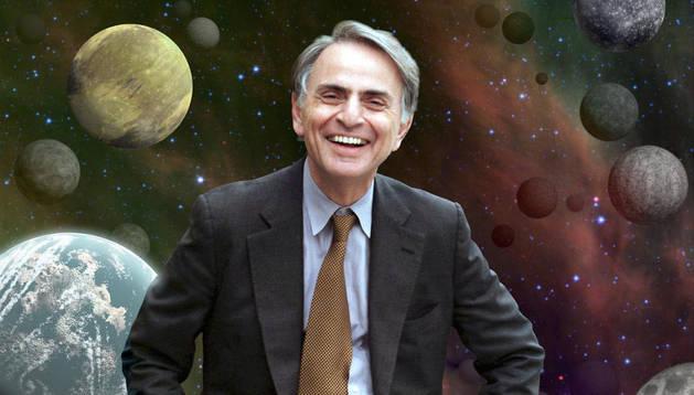 El divulgador científico Carl Sagan.