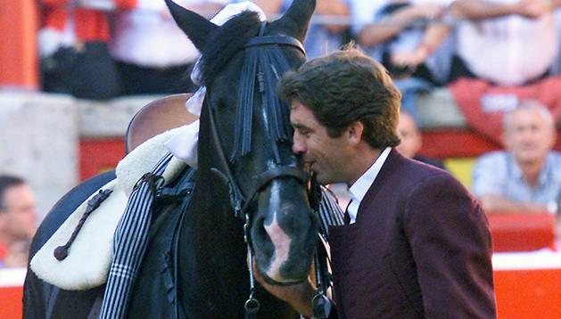 Despedida de 'Cagancho' en Pamplona en 2002.
