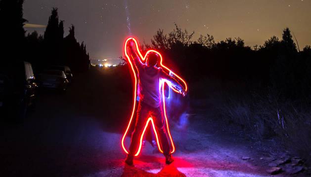 El resultado de una fotografía con técnica Lightpainting.