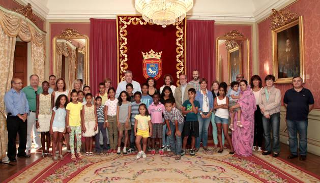 Los niños saharauis, en el Ayuntamiento