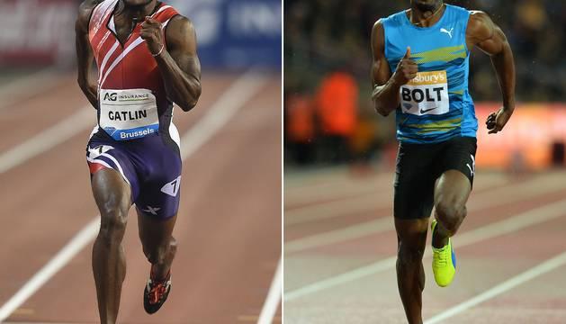 Gatlin y Bolt.