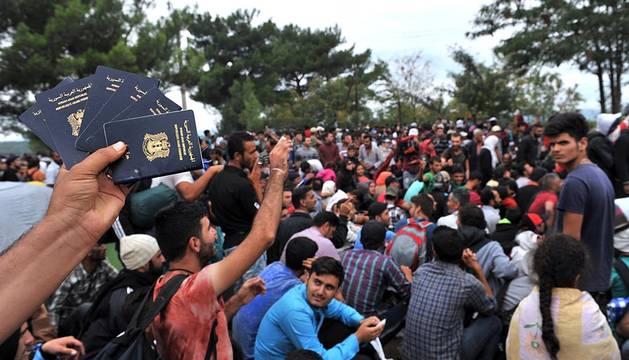 Emergencia en la frontera entre Grecia y Macedonia