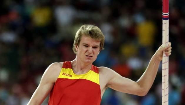 Adrián Vallés, en el Mundial de Pekín