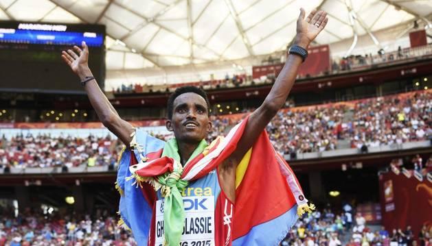 Ghebreslassie, oro en maratón.
