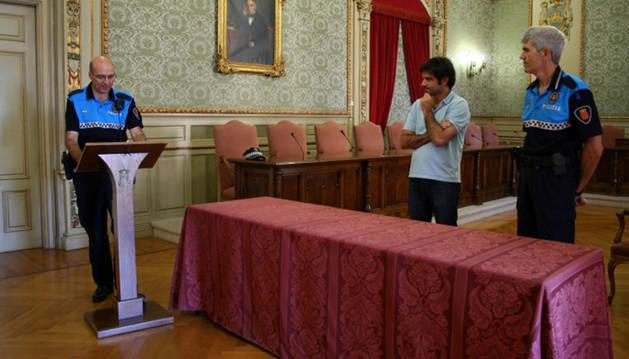 De izda. a dcha.: Fco. José Orta, Eneko Larrarte y José Ángel Santamaría.