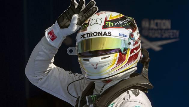 El piloto británico Lewis Hamilton (Mercedes).