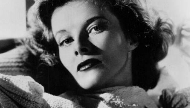 La actriz Katharine Hepburn.