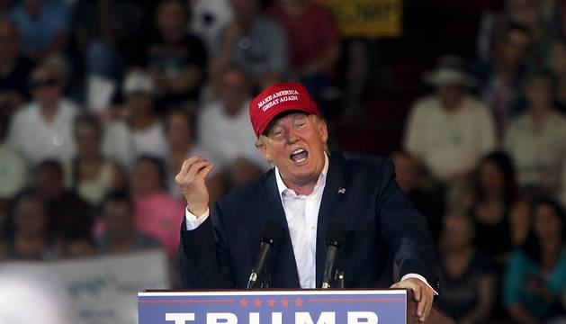 Trump, durante su mitn en la ciudad de Mobile (Alabama).