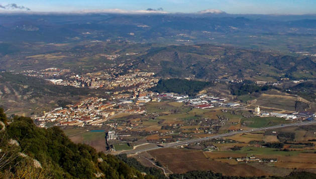 Vista panorámica de Ayegui, Estella y Villatuerta desde Montejurra.