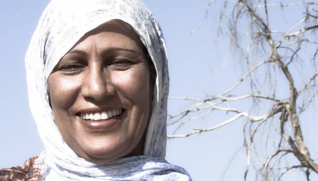 La embajadora de la música saharaui Mariem Hassan.