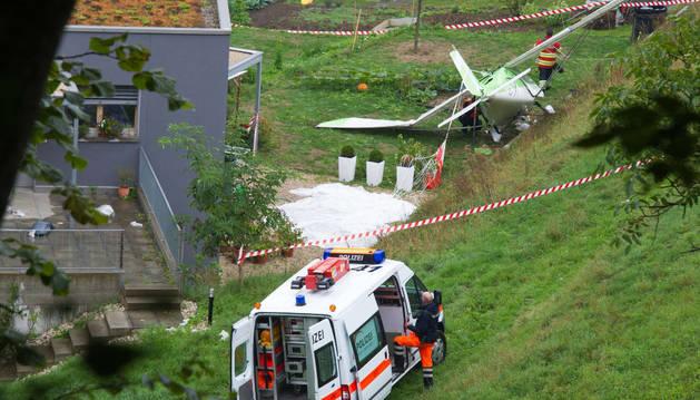 Estado en el que quedó el avión después del accidente.