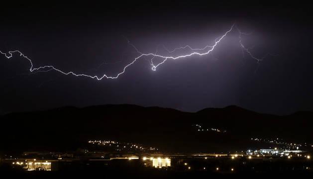 La tormenta dejó 8,9 l/m2  y rachas de viento de 57,8 km/h en Pamplona