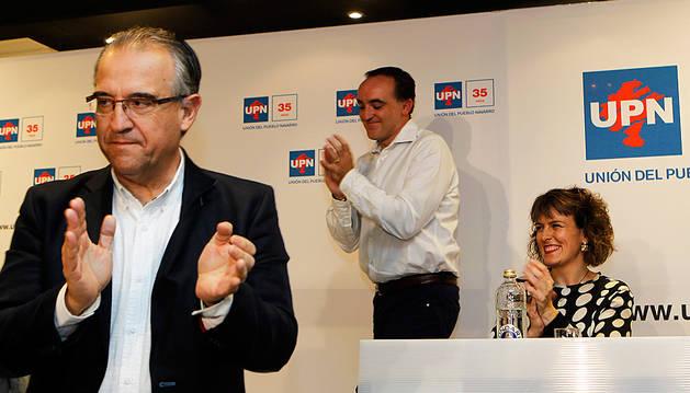 Enrique Maya y Javier Esparza, cuando fueron elegidos cabezas de lista para las pasadas elecciones.