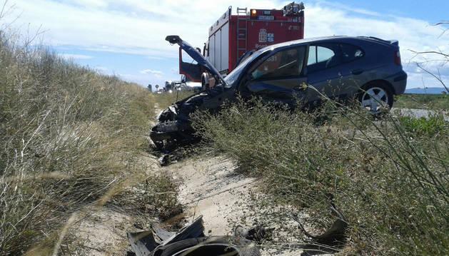 El accidente ocurrió en la carretera NA-134, punto kilométrico 55.