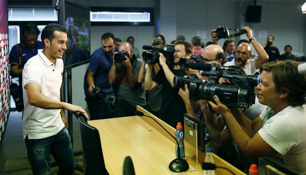 Pedrito en su despedida del FC Barcelona