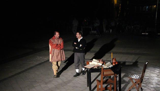 Momento en que se representó la coronación de Carlos I El Noble como nuevo rey de Navarra