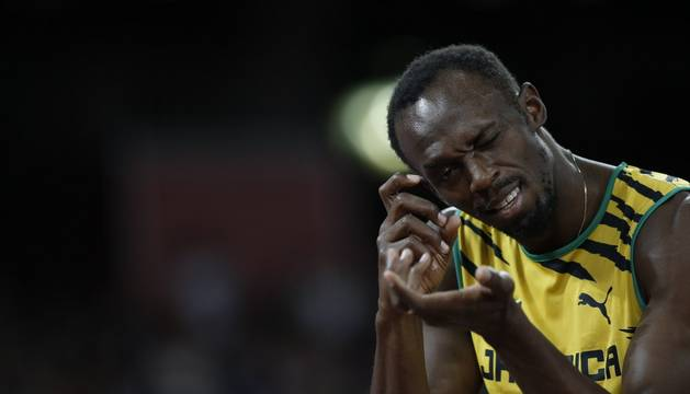 Usain Bolt, en la ronda clasificatoria.