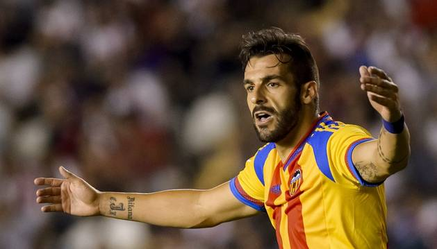 Negredo, contra el Rayo Vallecano.