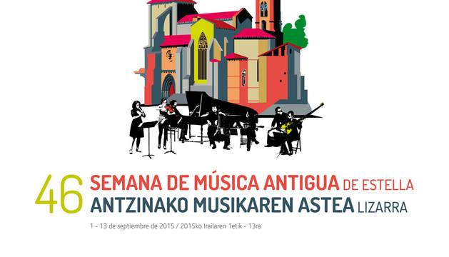 Cartel de la 46 de la Semana de Música Antigua de Estella.