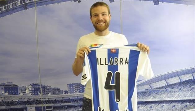 Illarramendi, con la camiseta de la Real Sociedad.