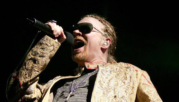 El líder de la banda Guns N'Roses, Axl Rose.