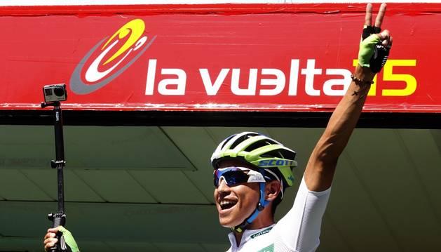Chaves celebra su triunfo.