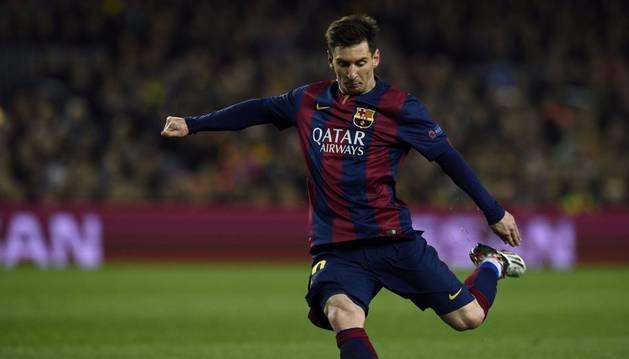 Messi, en Champions.