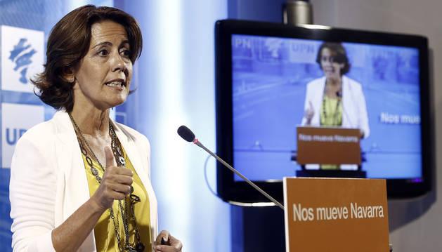 Yolanda Barcina anuncia su dimisión como presidenta de UPN