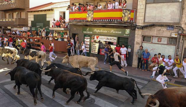 Corneada una falcesina que veía el encierro de San Sebastián de los Reyes