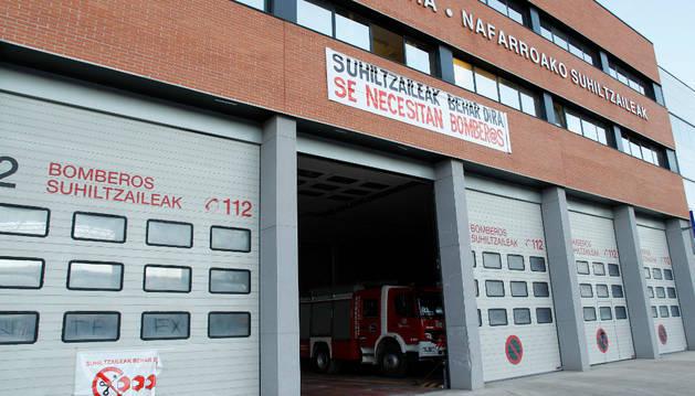 La sede de bomberos del parque de Cordovilla.