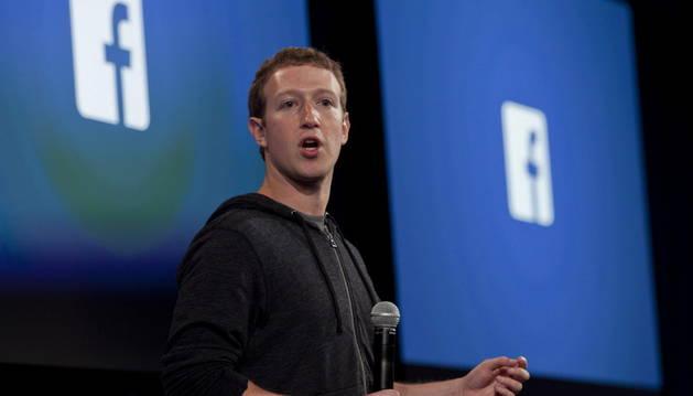 Mark Zuckerberg, durante un evento en la sede de su compañía.